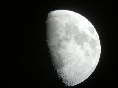 The moon at our Astronomy excursion