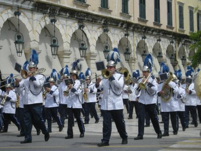The parade in Corfu town