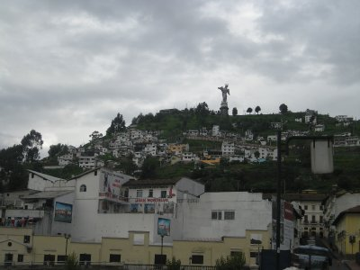 View from the hotel of Quito