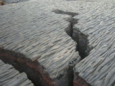 santiago lava flow crack