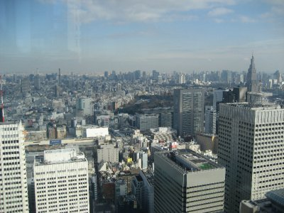 view from 2nd tallest building in Tokyo