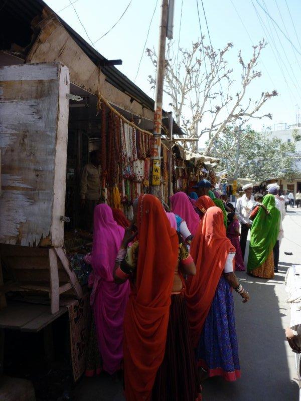 pilgrims in Pushkar market