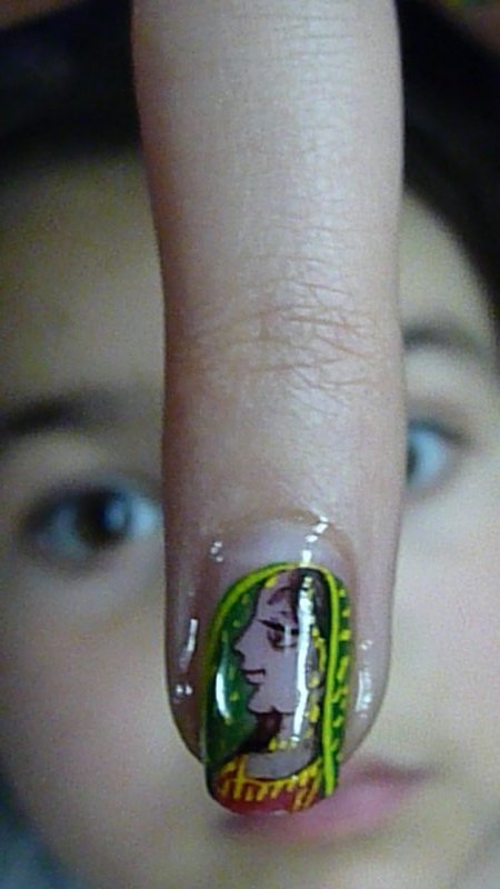 Arella's peacock fingernail