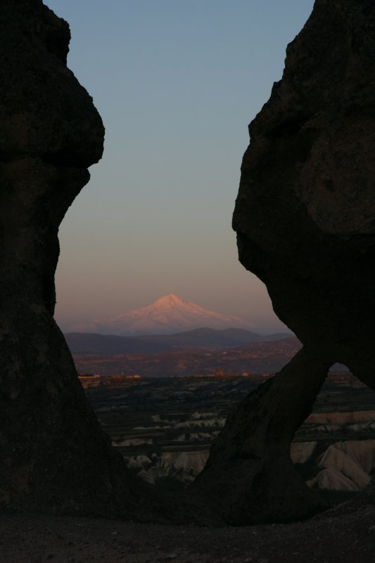 one of many volcanoes in Cappadocia region
