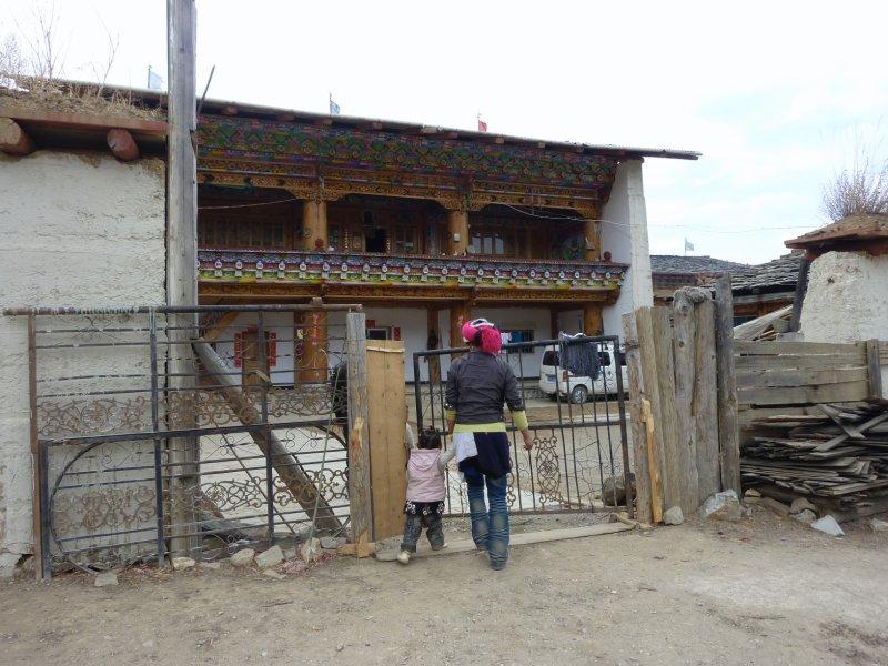 outside tibetan house