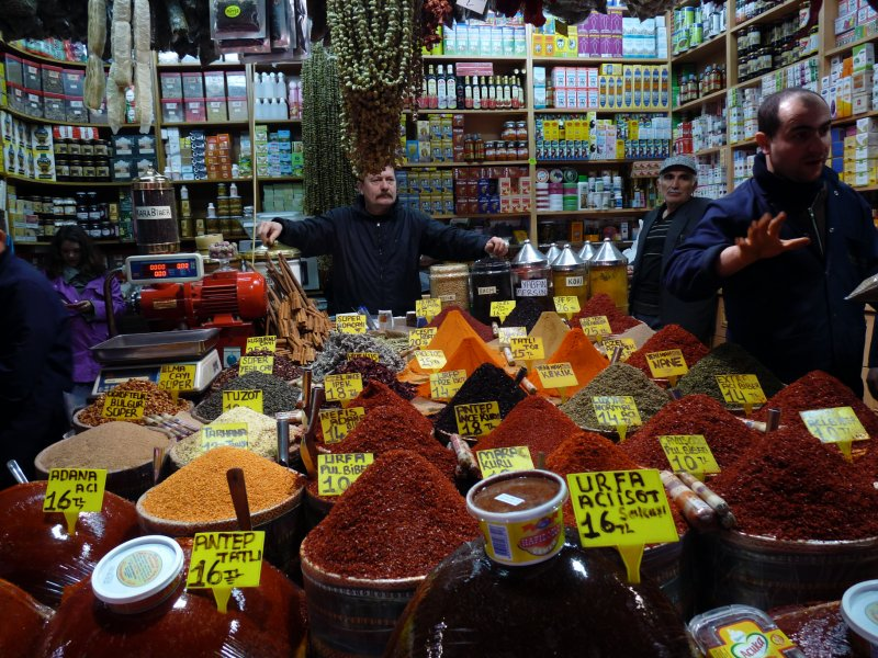 One stall at the spice market