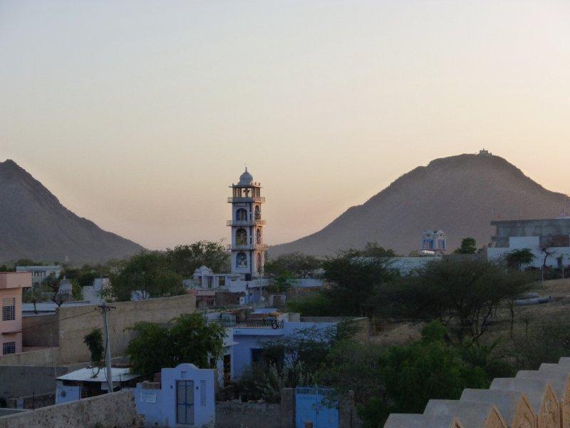 sunset on the Vishnu Temple