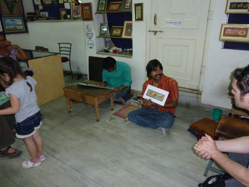 Sanju from Janak Art giving a lesson