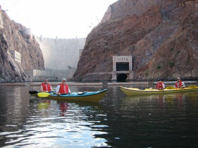 Kayaking near Hoover Dam with Desert Adventures