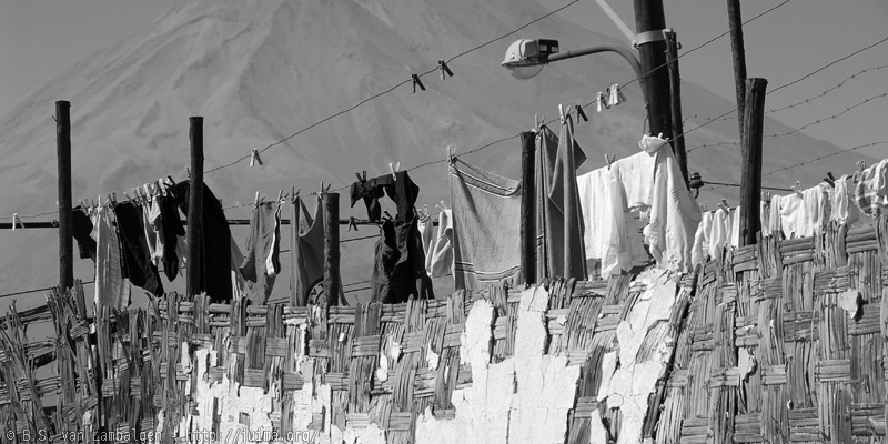 36 views of El Misti: rooftop laundry at Arequipa
