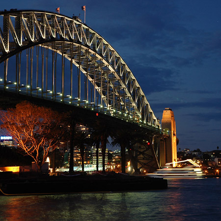Harbour Bridge at night