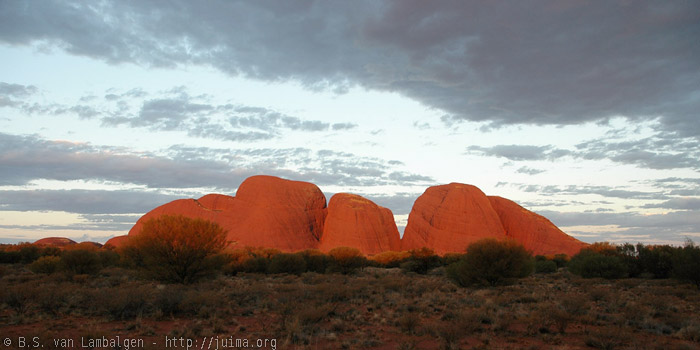 Sunset at Kata Tjuta