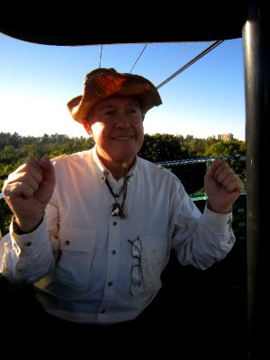 On the cable car, san diego zoo, practically the Mexico border (hence the dancing!)