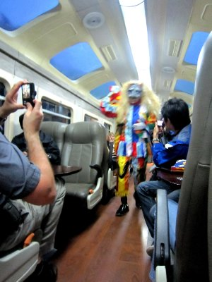 'Caberet' on the train back to Cusco