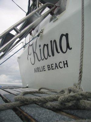 Our sailing boat, Kiana