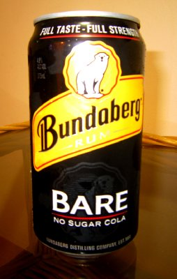 Celebrating with the local brew, Bundaberg rum