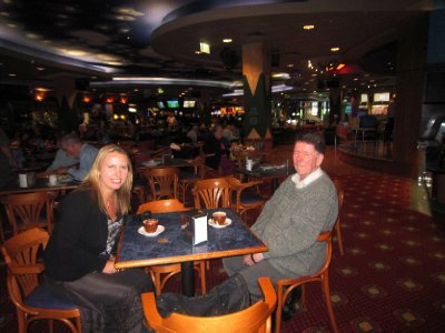 with Alan in ex-serviceman's club