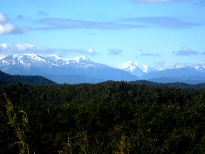 First glimpse of the Southern Alps