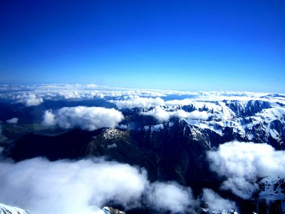 Southern Alps from above