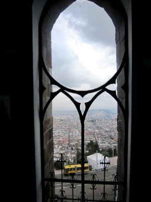 From inside the virgin of Quito