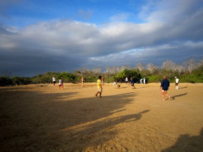 A spot of footy on Isla Floreana