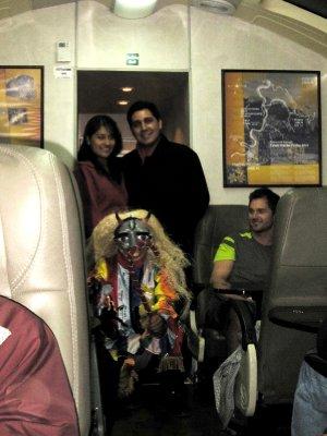 Alpaca fashion show on the train back to Cusco!