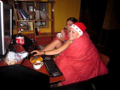 swedish girls at hostel, Christmas Eve