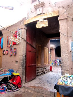 Entrance to the plaza in Pisac