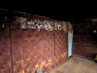 My bedroom, night 1, the photos on the wall were sent back by previous trekkers