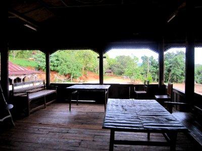 The veranda at the monastery