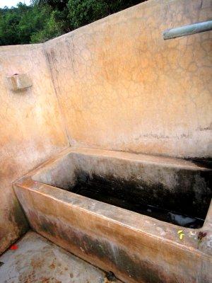 Luxury bathroom facilities at the monastery