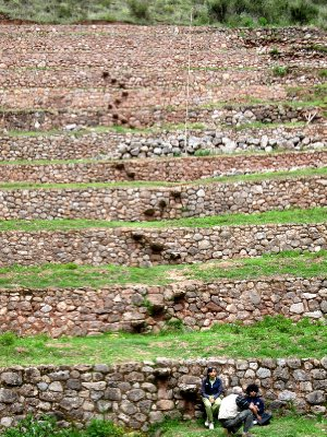 Moray Incan agricultural 'laboratory' Inca steps (very steep)