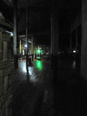 monastery at night, spooky