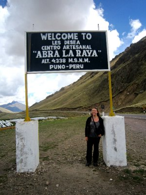 Yep quite a high altitude, on the way to Lake Titicaca