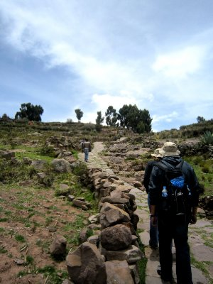 Wasn't easy trekking to the top of the Island at this altitude