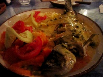 Delicious trout from lake Titicaca