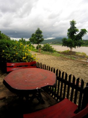 view across Mekong to Laos from my guesthouse