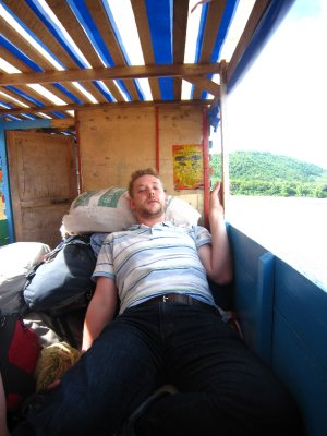 Paul on the Boat to Luang Prabang