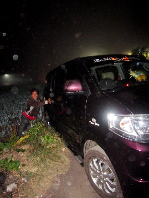 whoops car down a ditch!