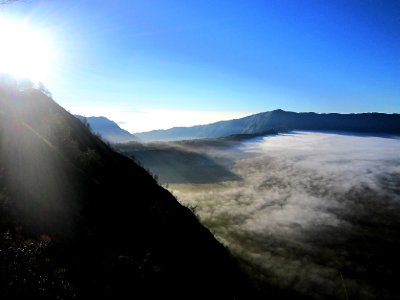 View of Mt Bromo at sunrise