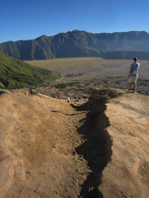 From the top of the crater