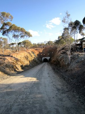 Entrance to the mine, looked like a narrow train tunnel