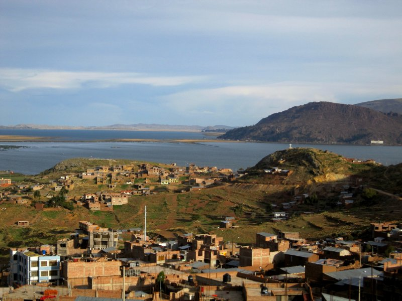 First view of Lake Titicaca
