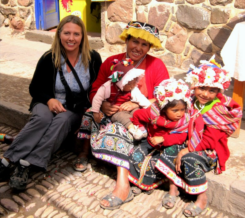 Meeting the locals in Pisac (for 2 soles!)
