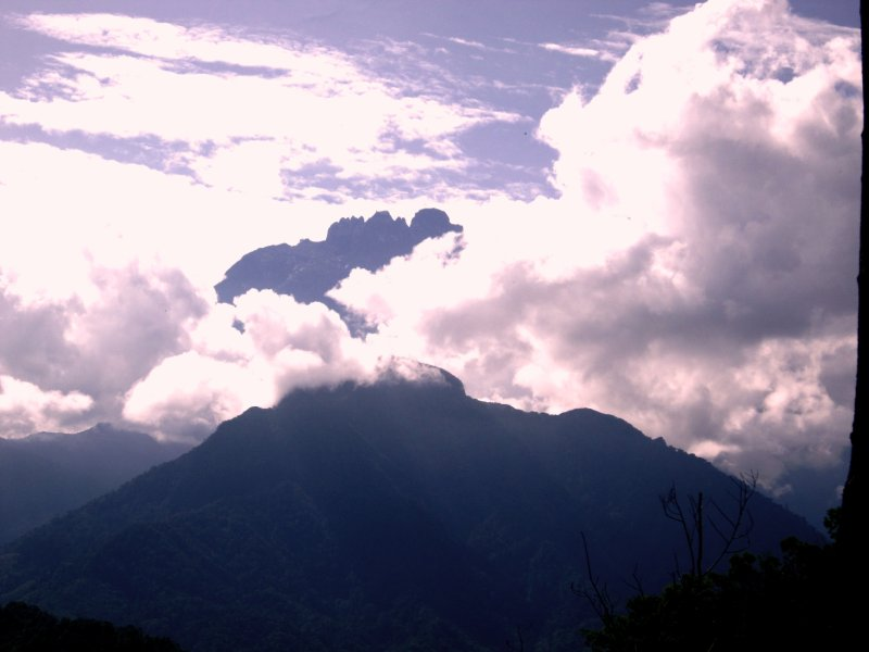 Mount Kinabalu poking its tongue out at me!