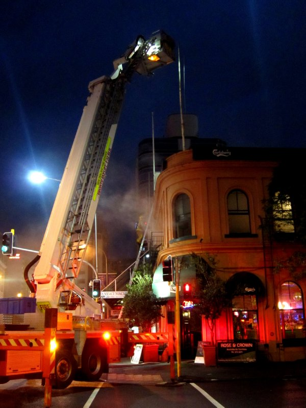 The pub is on fire yikes!