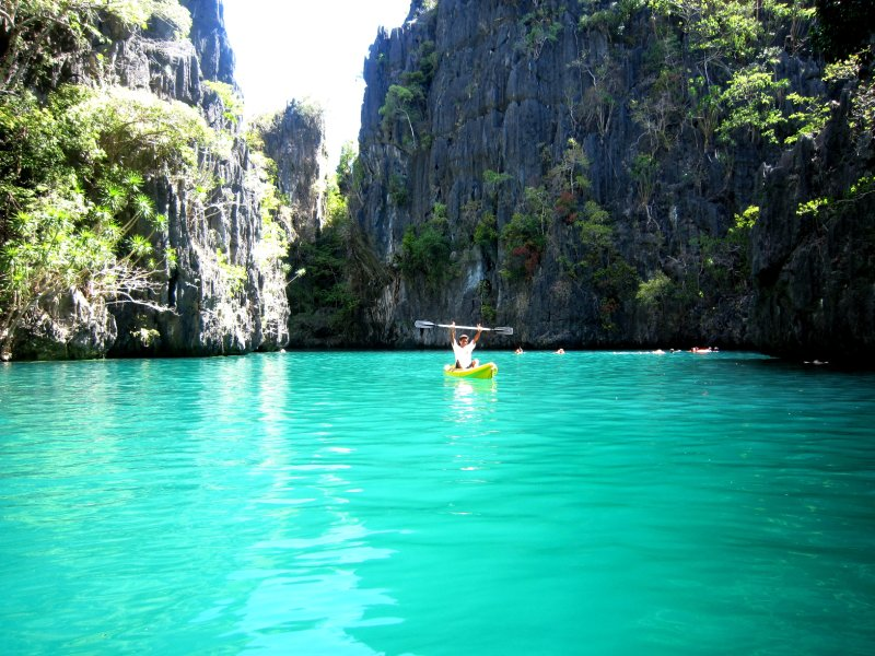 kayaking - the sea colour here was just amazing