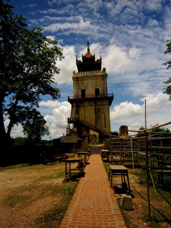 Watchtower in Inwa, yes it was really wonky wasn't me