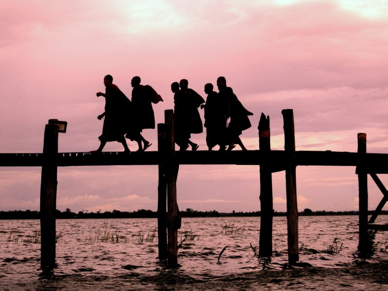 Amarapura U Bein's bridge