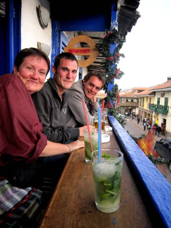 Enjoying mojitos on the balcony with Wouter and Tonny